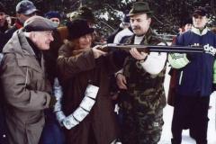 Jadwiga Żukowska i Stanisław Śliskowski na strzelnicy