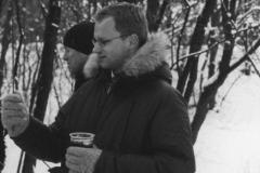 Maciej Stuhr na ognisku
