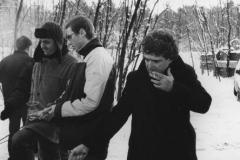Ryszard Brylski i Zbigniew Grześkowiak przy ognisku