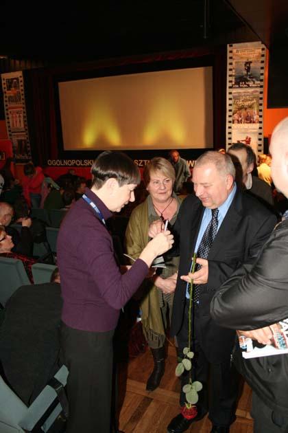 Jerzy Stuhr, Barbara Krzepkowska i Barbara Jankowska
