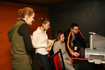 Zespół redakcyjny Gazety Festiwalowej Sonia Górczyńska, Anna Dymna, Joanna Gembarzewska i Artur Cichmiński
