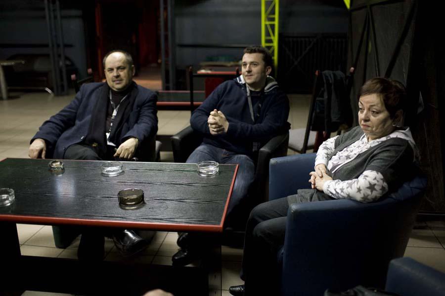 Wierni uczestnicy festiwalu - Zbigniew Korsak, Zbigniew Grześkowiak, Janina Krawiarz