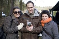 Iza Olejniczak, Robert Wrzosek i Olga Pawlak na pikniku w Podstolicach
